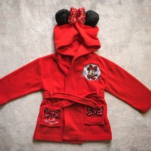 Disney Baby Minnie Mouse Red Outfit, Hoodie & Ears